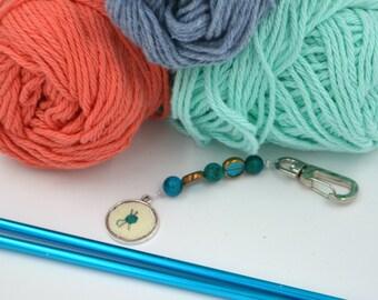 The Judy (Knitting Needle Yarn Cross Stitch Keychain)