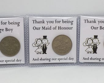 Lucky Sixpence Wedding Favour