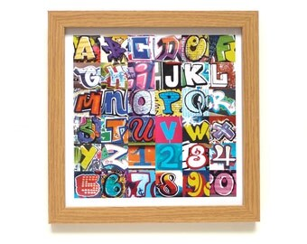Alphabet | Street Art Print | Framed Print | Collections Picture | Square Photographic Print | Graffiti | ABC | Graffiti | Urban Art