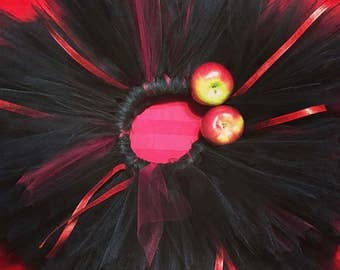 Black Red Halloween Costume Tutu - Baby Birthday Cake Smash, Photoshoot Tutu