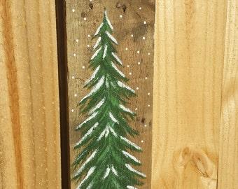 Painted tree board