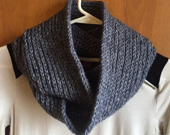 Stone Gray Infinity Scarf, crochet scarf, crochet cowl, scarf, cowl