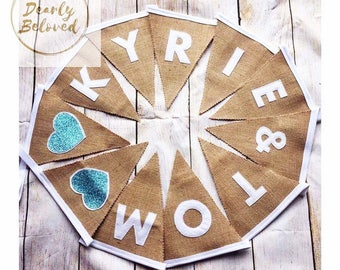 Personalised Wedding Bunting, Wedding Decor, Mr & Mrs Bunting, Rustic Wedding