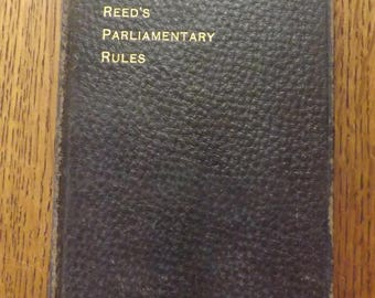 Reed's Parliamentary Rules 1899