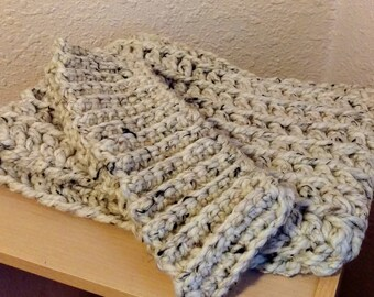 Oatmeal Crochet Cowl and Headband