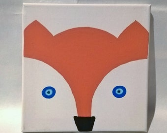 Fox painting acrylic