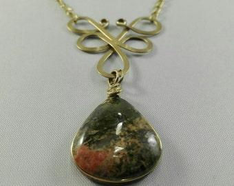 Brass Wineberry Necklace Ukanite