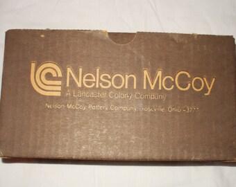 Nelson McCoy Stonecraft cream and sugar set in original box (Never used)