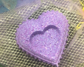 Lavender heart bathbombs