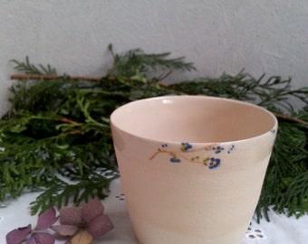 Ceramic mug forget-me-not