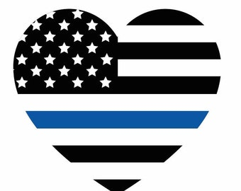 thin blue line etsy With kitchen cabinets lowes with blue lives matter sticker