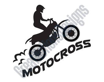 Motocross - SVG - HTV - Vinyl Cutting Graphic Art