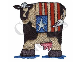 Patriotic Cow - Machine Embroidery Design