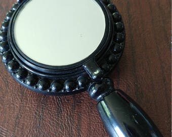 Vintage 1940s House of Plate Trio-Ette Mirror Compact With Powder, Rouge, and Lipstick