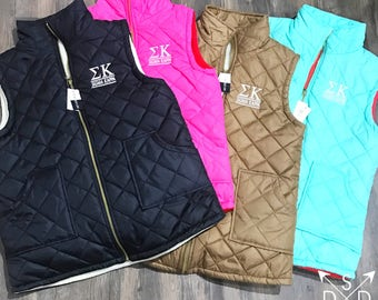 Quilted Sorority Vest