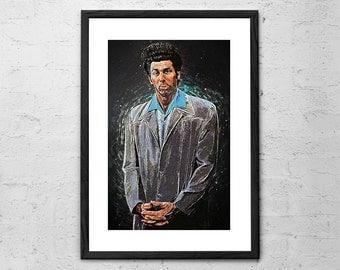 Cosmo Kramer - Seinfeld - Seinfeld Poster - Seinfeld Art - Kramer - Tv Show - Movie Poster - Larry David - Jerry Seinfeld - Cosmo Kramer Art