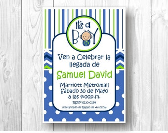 Digital invitation Baby Shower - I'ts a Boy