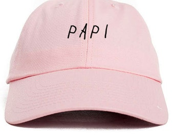 Papi Pink Unstructured Baseball Dad Hat Cap New