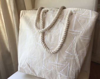 Sail Away With Me Rope Tote