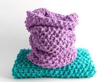 Wool knit collar