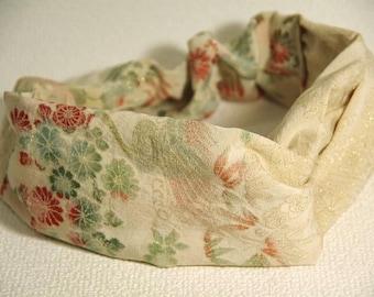 free shipping.remade .Cross hair band . Japanese vintage kimono.