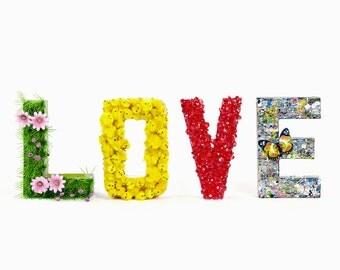SPRING LOVE Clear Vinyl Sticker