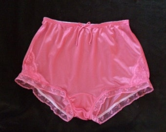 Hot coral pink vintage style hand made panties.