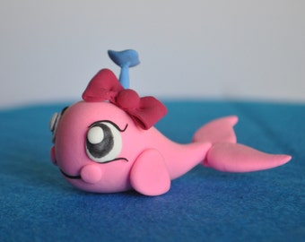 Lightweight clay pink whale