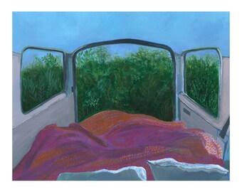 "Car Camping Painting 8x10"""