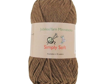 Simply Soft Chestnut Brown Blend Yarn