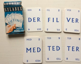 Sylabex  Vintage Card Game
