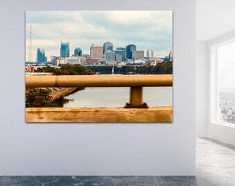 Nashville Tennesse Skyline Fine Canvas Print Wall Art Decor