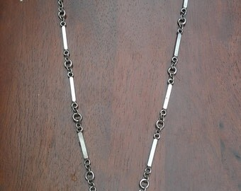 Heavy Silver Bar Necklace (Chain)