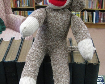 Sock Monkey, Red Heel Socks