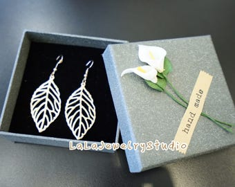 Gold Leaf Earring. Gift for her