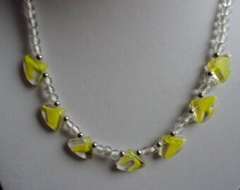 Lemon Zest Lampwork Glass Bead Necklace - N20