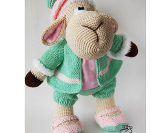 Knitted toy Marshmallow Sheep / crochet toy / knitted animals / soft toy