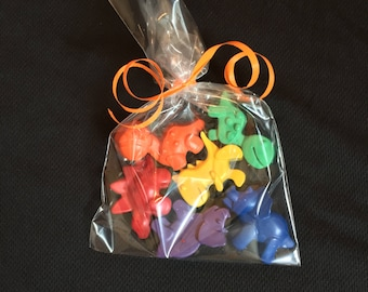 Dinosaur Crayons  Party Favors (10-25 bags)- Dinosaur birthday-