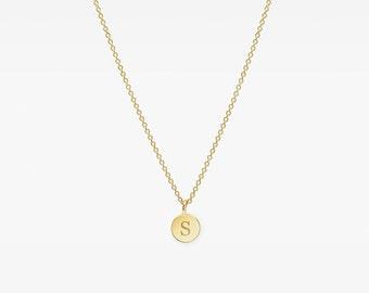 14K Gold Round Necklace