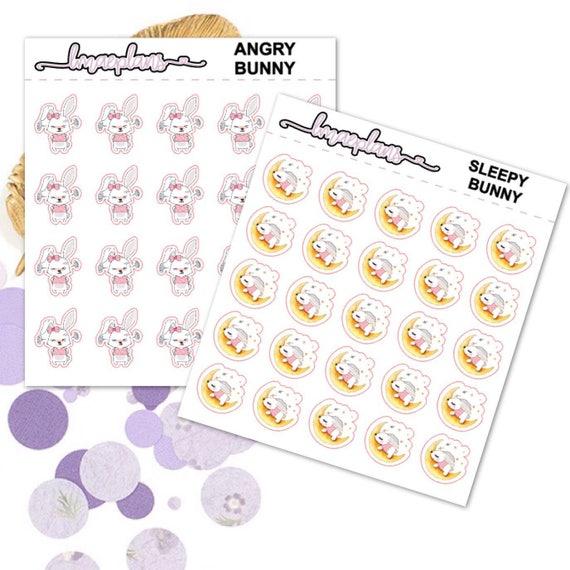 Cute Bunny - Planner Stickers Fuctional Happy Planner Erin Condren