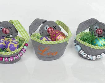 Easter baskets with name or name pendant