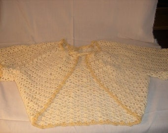 Crocheted Soft Yellow Sweater