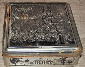 Old metal STOLLWERCK Berlin Cathedral pattern box