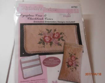 Michelle's designs #3703 eyeglass case and checkbook cover