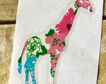 Giraffe decal / giraffe sticker / car decal / yeti decal / laptop decal / giraffe lilly decal / Lilly pulitzer decal / vinyl decal