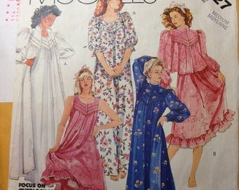 McCall's pattern 2827 for women's robe and nightgown