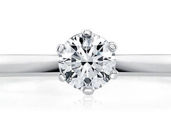 1/2 carat solitaire engagement ring for women