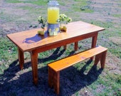 Harvest Table and Benches...