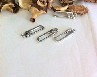 5 charms pendants saw, silver, for original creations