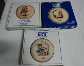 3 Vintage Hummel Plates
